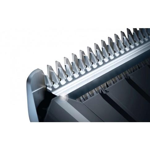 Masina de tuns Philips HC3420/15, 13 setari de lungime, lame din otel inoxidabil, utilizare cu sau fara fir, negru + rosu