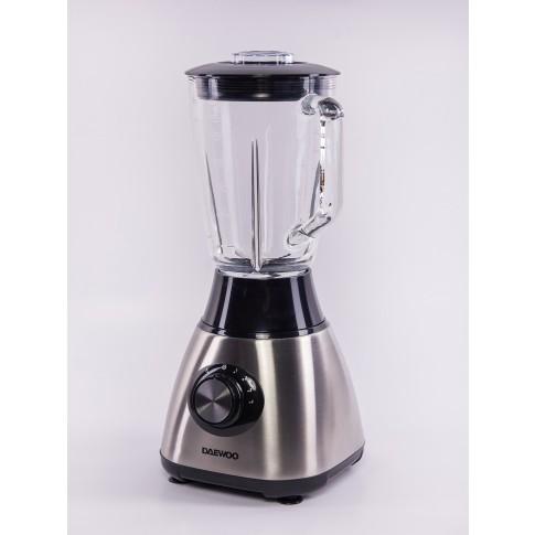 Blender Daewoo DB152, 600 W, 2 trepte de viteza, 1.5 l, functie Pulse, bol gradat sticla, zdrobire gheata, negru + argintiu