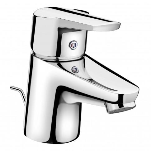 Baterie baie pentru lavoar Kludi D-Vise 371810590, cu ventil, monocomanda, finisaj cromat