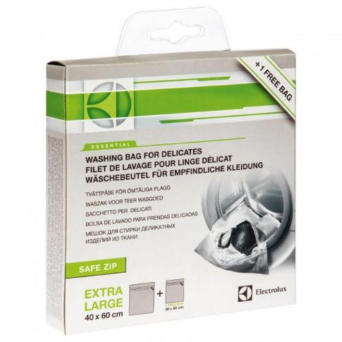 Saculet pentru spalare rufe delicate in masina de spalat, Electrolux E4WSWB41, set 2 bucati, 40 x 60 cm + 30 x 40 cm, alb