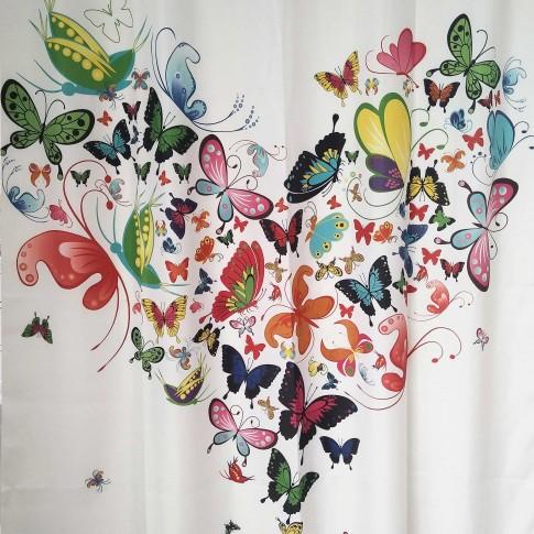 Perdea dus SWSC-1101, model fluturi, multicolor, 180 x 200 cm