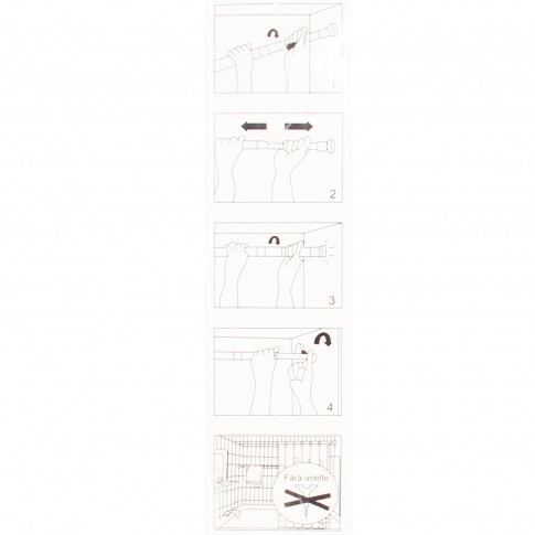 Bara perdea dus, telescopica / extensibila, otel, cromata, Kadda SW123A, 140 - 260 cm
