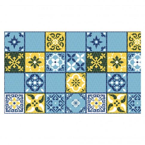 Covoras baie Terra-Mat 1025-2, albastru / galben / maro, 60 cm
