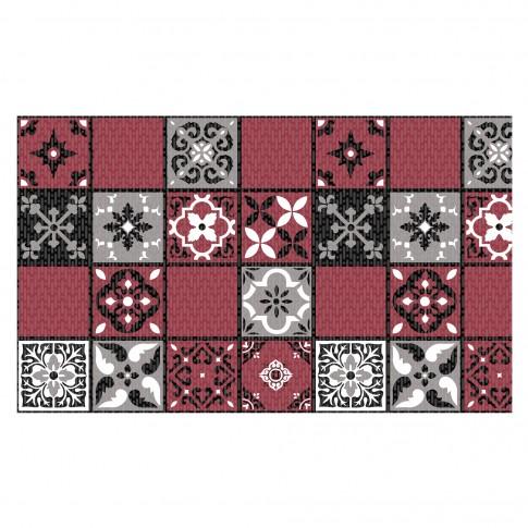 Covoras baie Terra-Mat 1025-4, rosu / alb / negru, 60 cm