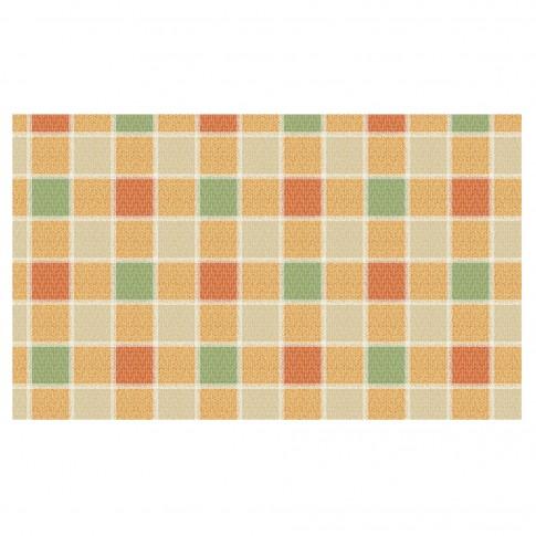 Covoras baie Terra-Mat C83-3, model carouri, galben / verde / portocaliu, 60 cm