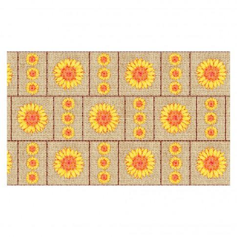Covoras baie Terra-Mat 1030-1, model floarea - soarelui, 60 cm