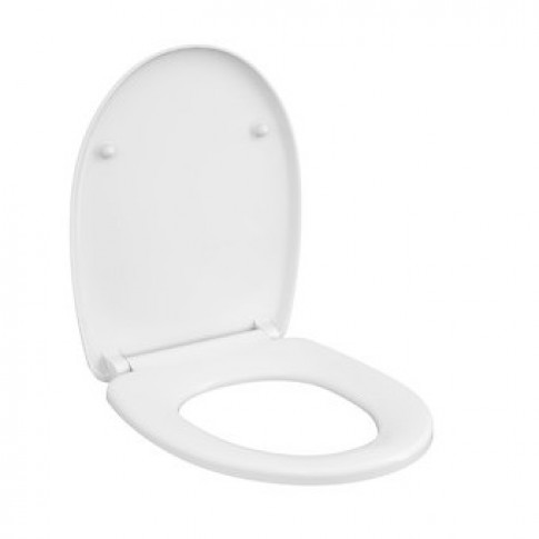 Capac WC din duroplast, Cersanit Delfi K98-0081, alb, inchidere lenta, 359 x 445 mm