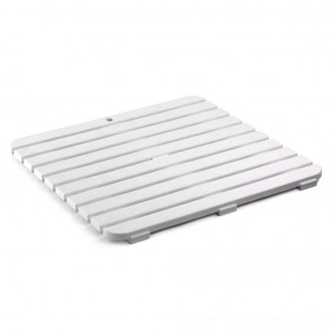 Platforma dus / baie, alb, 55 x 55 cm