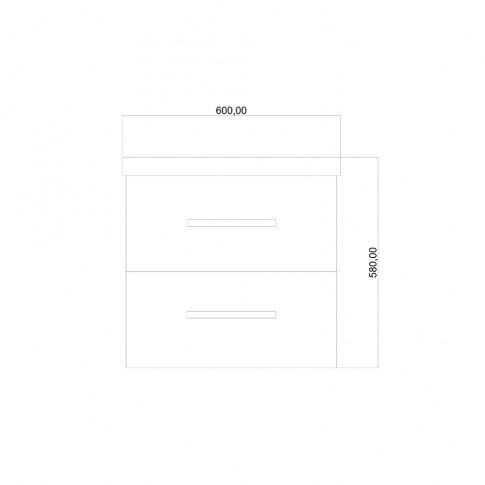 Masca baie + lavoar, Martplast Mondo, alb, suspendat, 60 x 58 x 48 cm