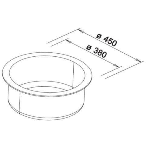 Chiuveta bucatarie compozit silgranit Blanco Rondo antracit neagra rotunda diametru de 45 cm