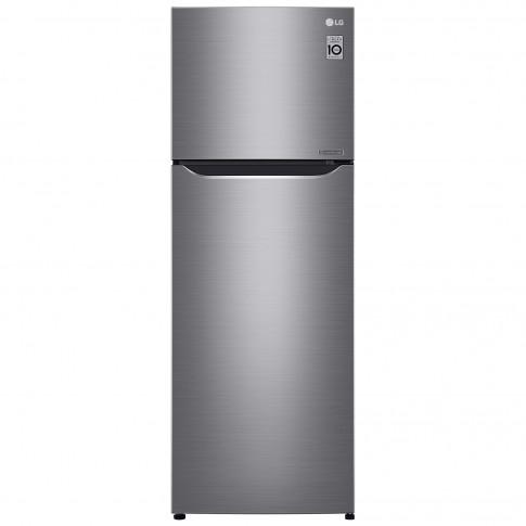 Frigider LG GTB523PZCZD, cu 2 usi si 3 rafturi, 312 l, clasa A++, argintiu, inaltime 169 cm, Total No Frost, sistem Linear Cooling