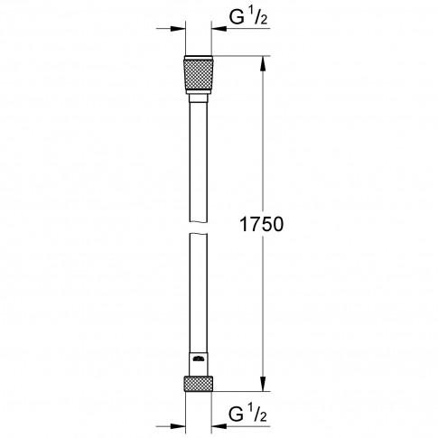 Furtun dus Grohe Vitalioflex 27506000, flexibil, 1.75 m