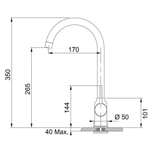Chiuveta bucatarie compozit fragranite Franke BFG 611-86 avena bej cuva stanga / dreapta 86 x 50 cm + baterie Pola avena bej