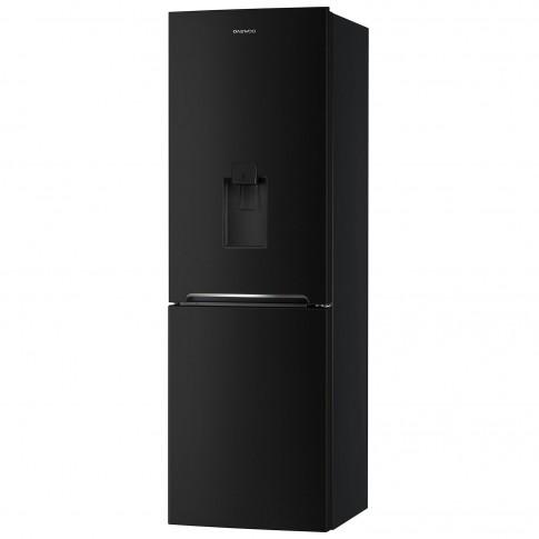 Combina frigorifica Daewoo RN-308RDQB, 305 l, No Frost, clasa A+, inaltime 187 cm, sistem Multi Air Flow, dispenser apa, negru