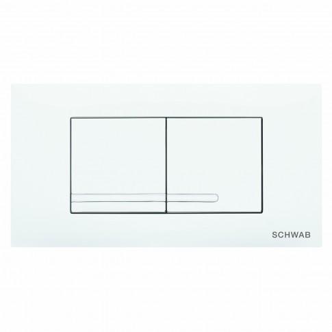 Placa actionare apa WC, Schwab Gaios Duo, finisaj alb