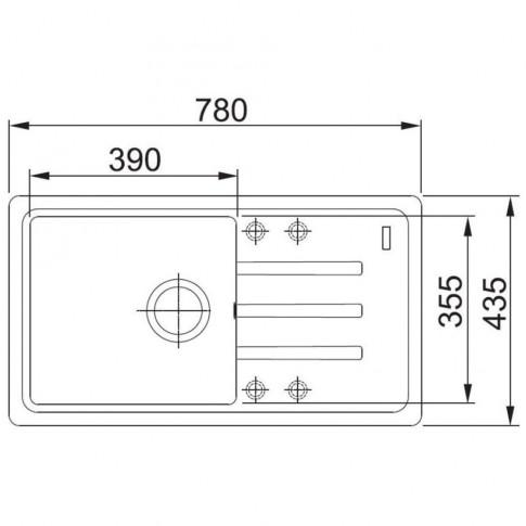 Chiuveta bucatarie compozit fragranite Franke BSG 611-78 avena bej cuva stanga / dreapta 78 x 43.5 cm + baterie Novara Plus avena bej