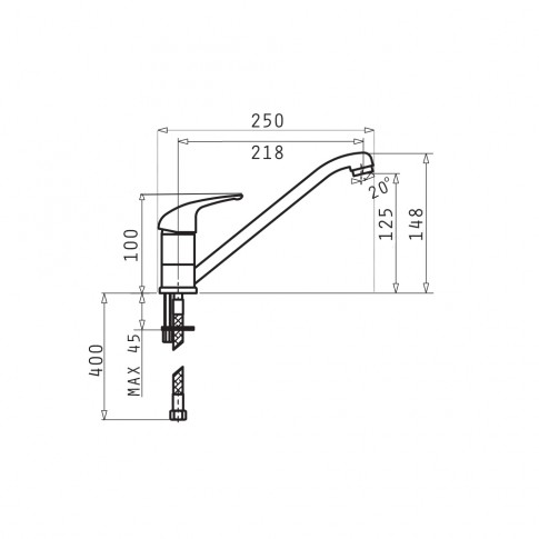 Chiuveta bucatarie compozit SMC Pyramis Pyradur avena bej cuva pe stanga 86 x 50 cm + baterie