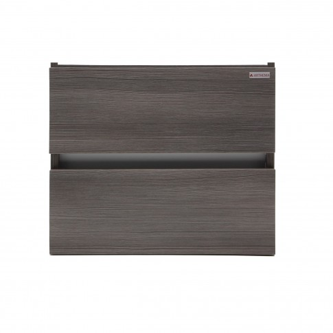 Masca baie pentru lavoar, Arthema Frame 60, cu sertare, rigoletto gri, montaj suspendat, 56 x 43 x 48 cm