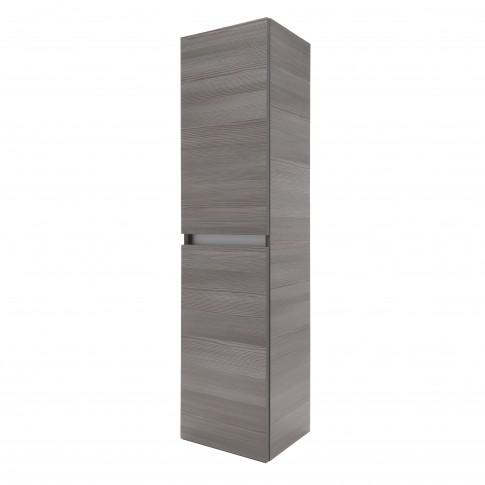 Dulap baie suspendat, Frame, 2 usi, rigoletto gri, 143 x 35 x 32 cm