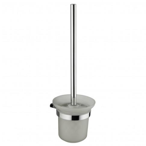 Perie WC Marlyn AR1714, suspendat, metal + sticla mata, 36 x 12 x 11 cm