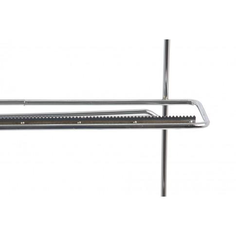 Suport bucatarie, pentru prosop hartie, triplu etajat, folie stretch si aluminiu, MG 033, suspendat, metal cromat, 30 x 15 x 36 cm