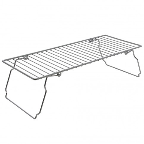 Organizator raft, pentru bucatarie, KB083, metal cromat, 47 x 20 x 14 cm