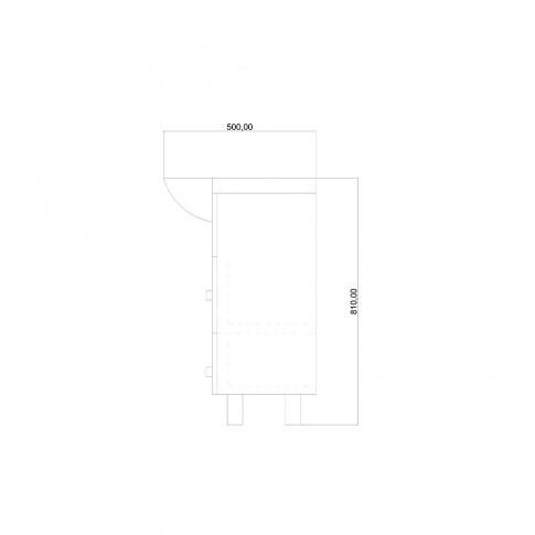 Masca baie + lavoar, Martplast Cross, cu usi si sertare, alb, 75 x 81 x 50 cm