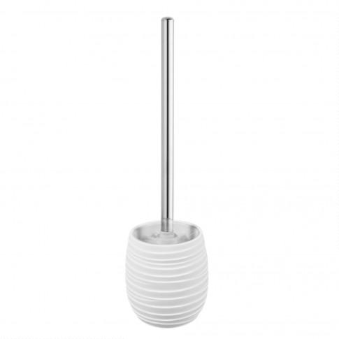 Perie WC Elegant BPO-2235F, polirasina, alb, 10.5 x 36.5 cm