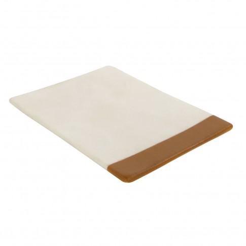 Sapuniera White Bamboo BPO-0588-3D, polirasina, crem + maro