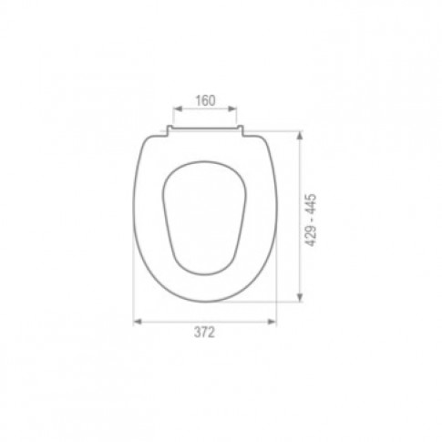 Capac WC din duroplast, MKW Gama D3 S0F5V018, alb, inchidere lenta, 372 x 429 / 445 mm