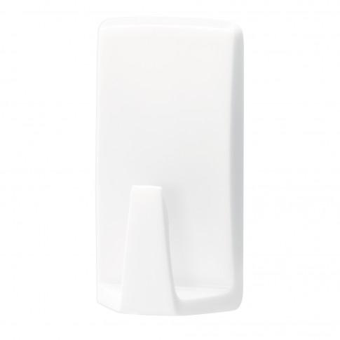 Cuier baie tesa Waterproof Classic, alb, o agatatoare, set 2 bucati