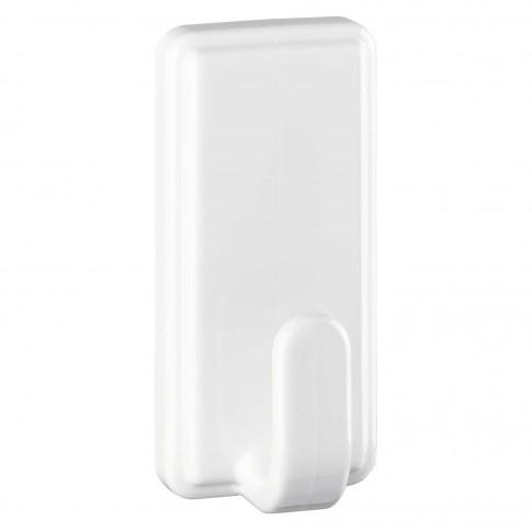 Cuier baie tesa Powerstrips Clasic, marime L, alb, o agatatoare, set 2 bucati