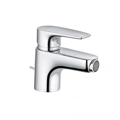 Baterie baie pentru bideu Kludi Pure & Solid 342160575, ventil inclus, monocomanda, finisaj cromat