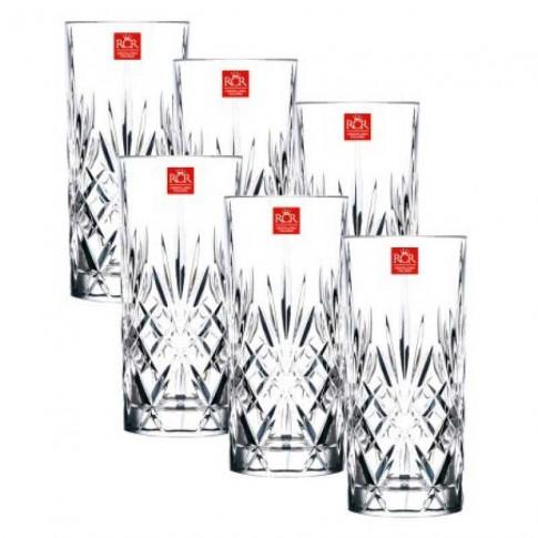 Pahar apa, Opera, din cristal, 350 ml, set 6 bucati
