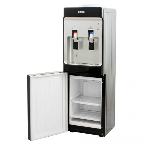 Dozator de apa Zass ZWD 10 CR, cu mini frigider 12 l, putere incalzire 550 W, putere racire 80 W, rezervor apa inox, termostat automat, negru