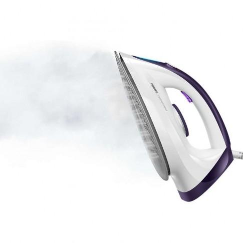 Statie de calcat Philips GC6730/30, 2400 W, 1.3 l, 220 g/min, talpa ceramica, jet de abur, presiune 5.2 bari, anticalcar, oprire automata, alb + mov