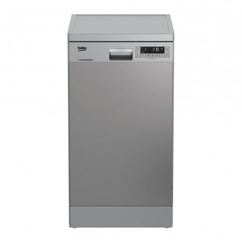 Masina de spalat vase Beko DFS26024X, 10 seturi, clasa E, 6 programe, latime 45 cm, gri