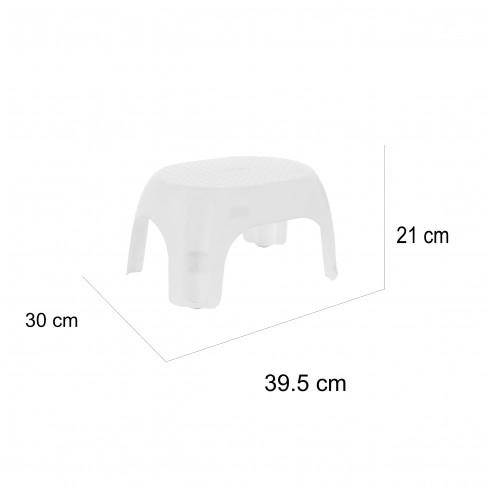 Scaun baie pentru copii, alb, Kadda BPO-1138, 39.5 x 30 x 21 cm