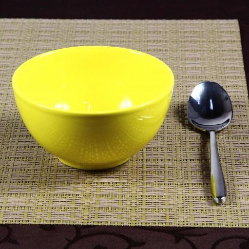 Bol pentru servirea mesei 2904, ceramica, galben, 14 cm
