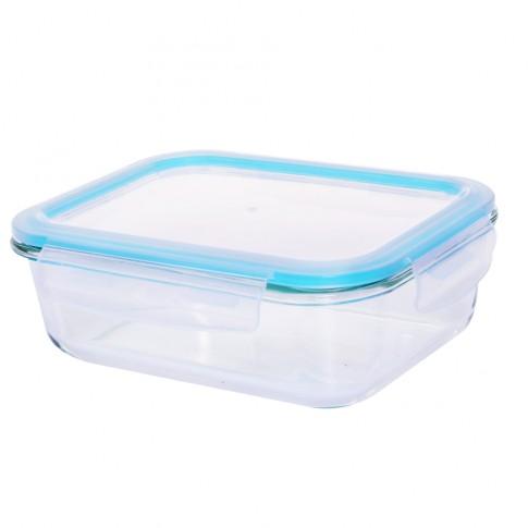 Caserola depozitare alimente, cu capac etans, HS1520RC, sticla transparenta, 1.52 L
