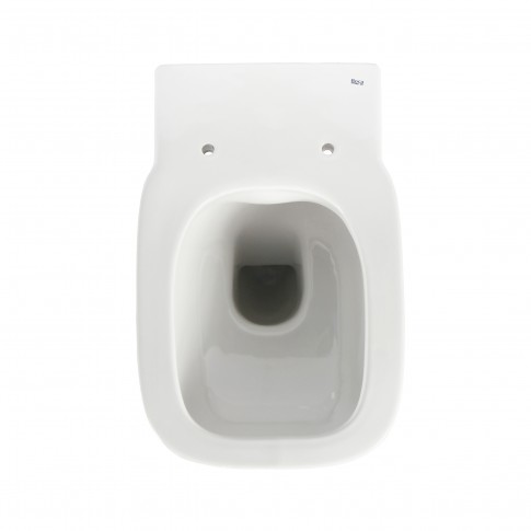 Vas WC suspendat Roca Debba Square Rimless A34699L000, cu evacuare orizontala, 35.5 x 54 x 40 cm