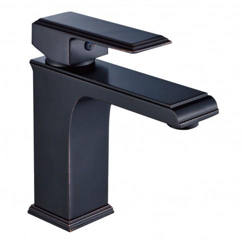 Baterie baie pentru lavoar, Kadda Integrity MY1701-2 DB, montaj stativ, monocomanda, finisaj negru + rosu