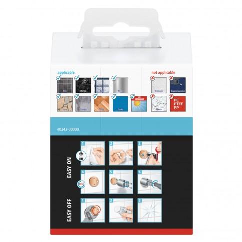 Suport pentru para de dus tesa Spaa 40343, autoadeziv, plastic, cromat, 4 x 4 x 5.8 cm