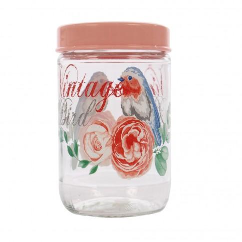 Borcan pentru depozitare ingrediente, din sticla, 171441-050, 660 ml