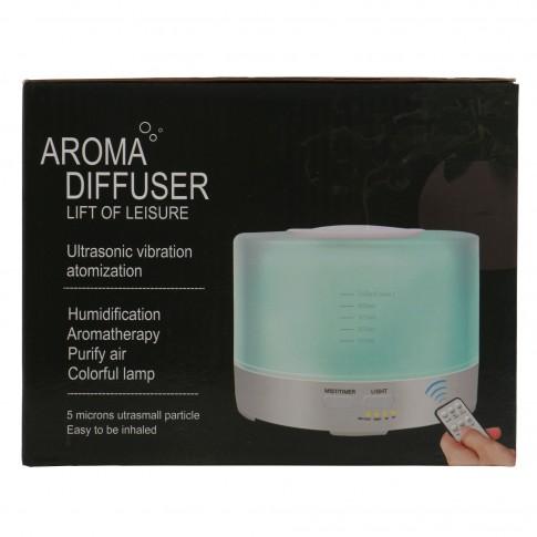 Difuzor ultrasonic Aroma Land Oslo, 500 ml, functie de umidificator, aroma difuzor, purificator aer, telecomanda