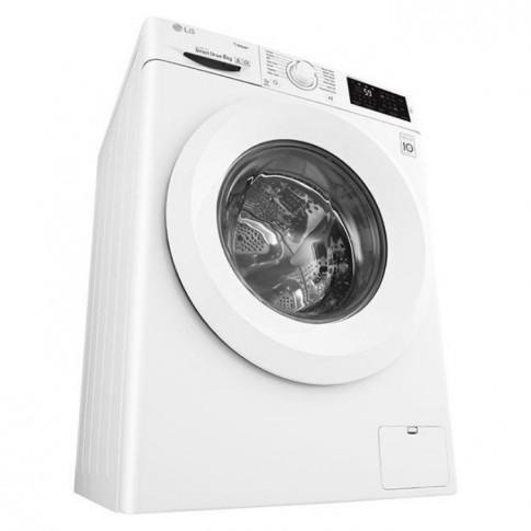 Masina de spalat rufe slim LG F0J5NY3W, 6 kg, 1000 rpm, clasa A+++, adancime 45 cm, tehnologie 6 Motion Direct Drive, alba