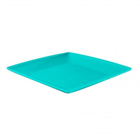 Farfurie plastic 2170, patrata, mare, 23 x 23 x 1.5 cm. diverse culori