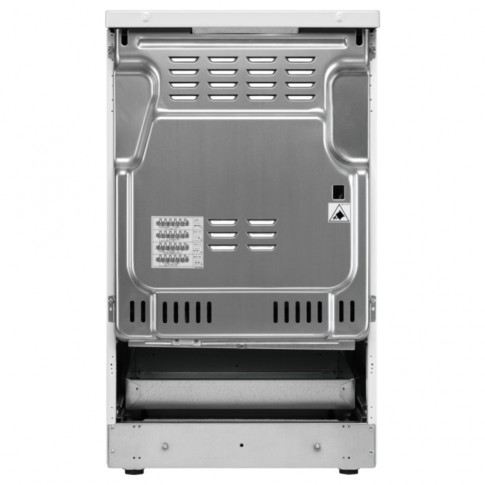 Aragaz electric Electrolux EKC52550OX, plita vitroceramica, 4 zone pentru gatit, cuptor electric, 7 functii, indicator caldura reziduala, grill, ventilator, decongelare, timer, latime 50 cm, inox