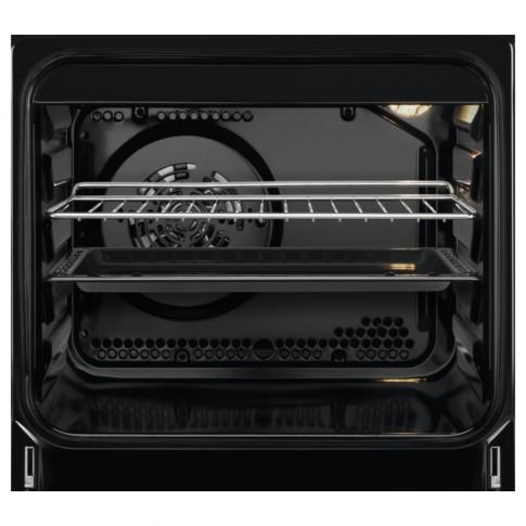Aragaz electric Electrolux EKC61960OX, plita vitroceramica, 4 zone pentru gatit, cuptor electric, 12 functii, indicator caldura reziduala, grill, ventilator, PlusSteam, decongelare, timer, latime 60 cm, inox