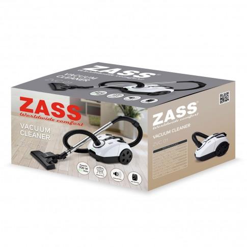 Aspirator Zass ZVC 01, cu sac, aspirare uscata, 2 l, 700 W